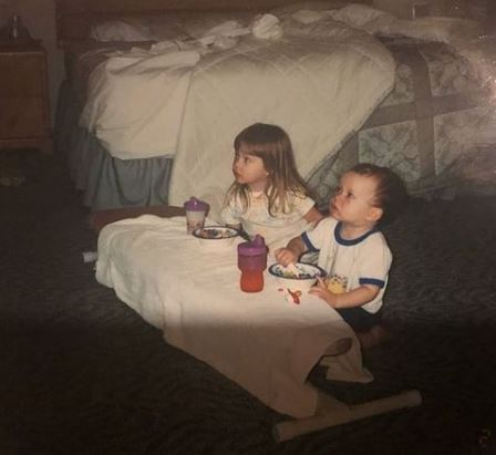 Childhood Picture Of Sydney Sweeny With Her Brother